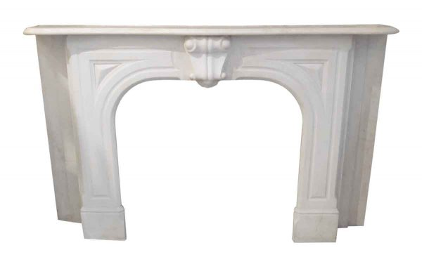 Simple Victorian white marble mantel - Mantels