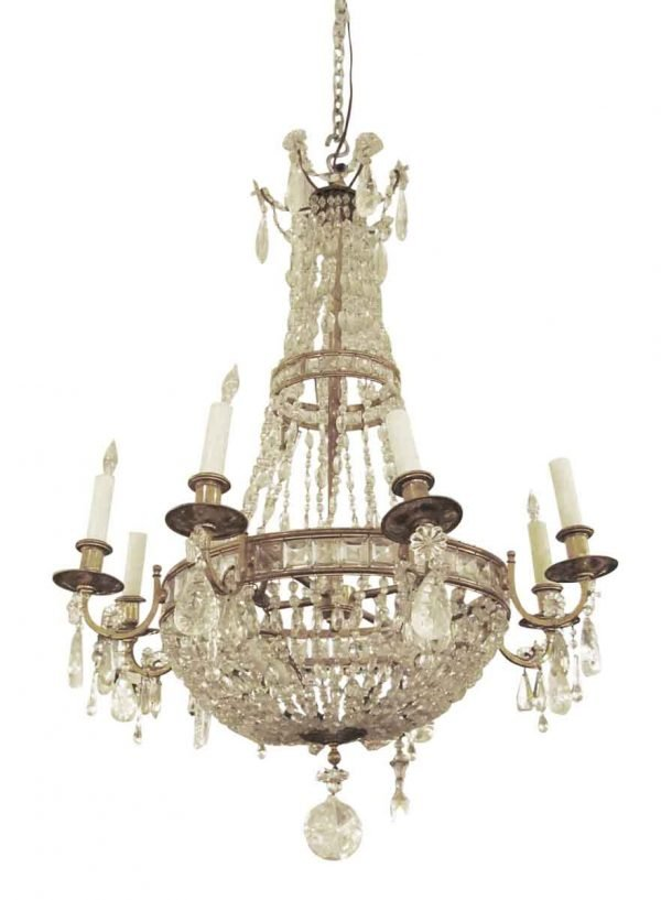 19th century French rock crystal chandelier - Chandeliers
