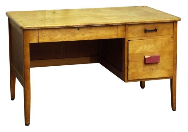 Old Wooden Desk with Three Drawers - Office Furniture