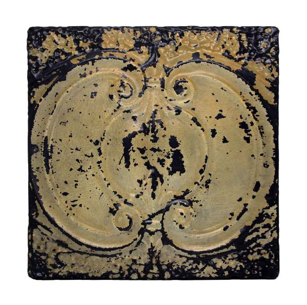Tan & Black Decorative Tin Panel - Tin Panels