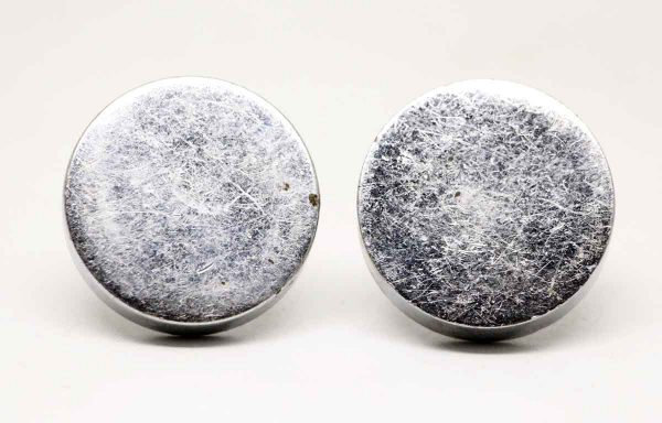 Pair of Round Chrome Plain Knobs - Cabinet & Furniture Knobs