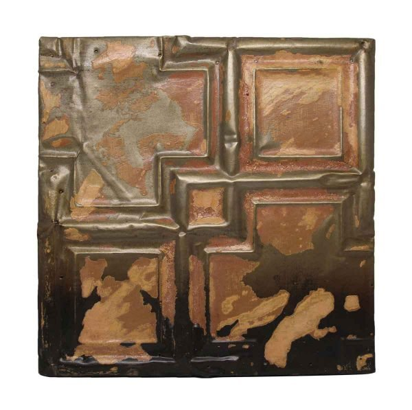 Geometric Antique Tin Panel - Tin Panels