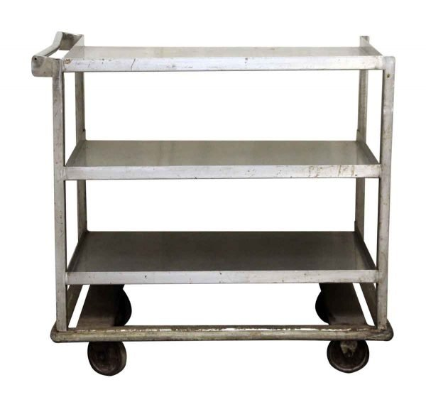 Industrial Rolling Cart with Handle Bar - Kitchen