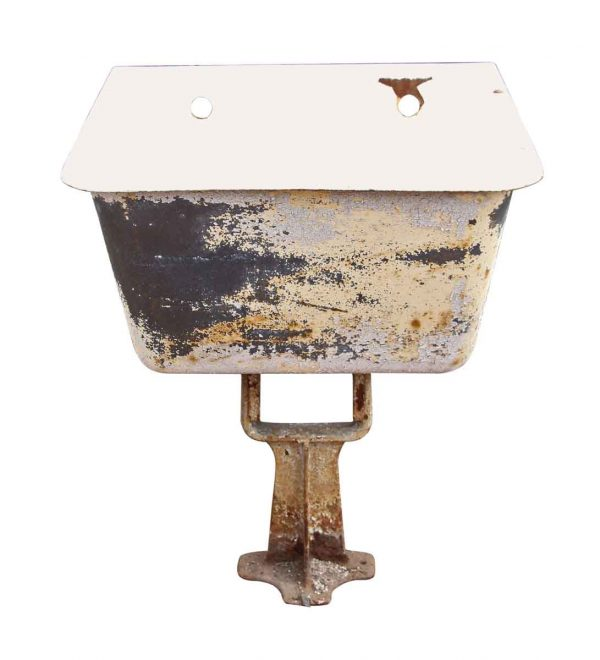 Enamel Over Iron Utility Sink on a Cast Iron Pedestal - Kitchen