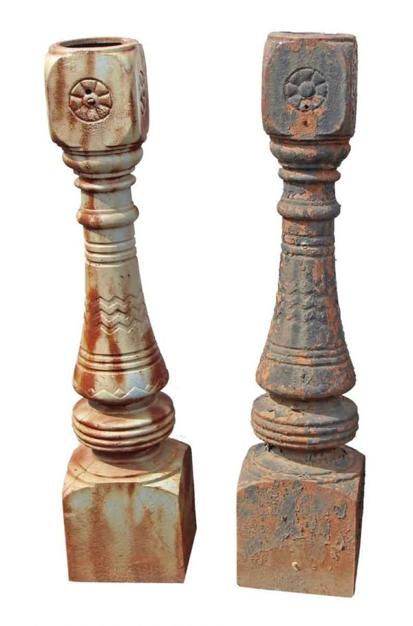 Large Cast Iron Brooklyn Brownstone Newel Posts - Fencing