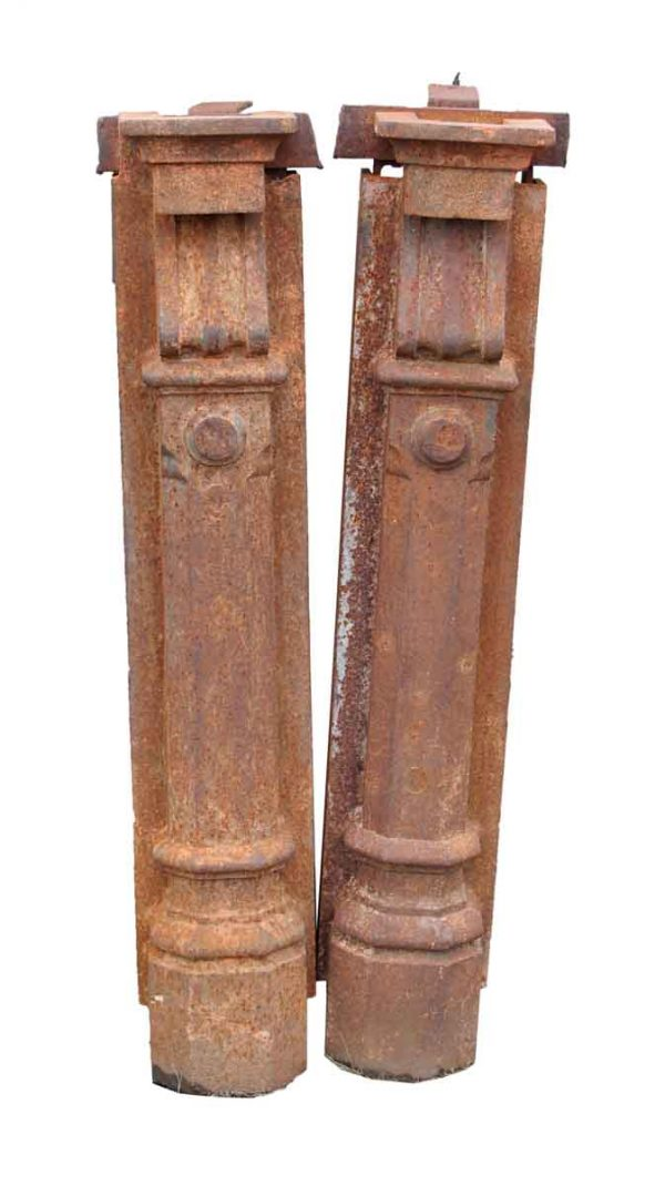Cast Iron Beaux Arts Pilaster Newel Posts - Columns & Pilasters