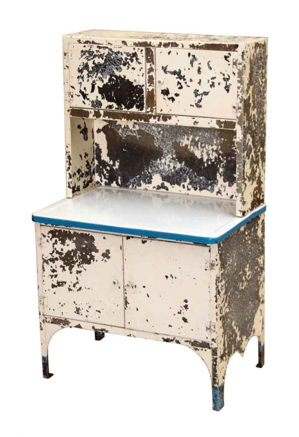 Distressed Medical Childrens Hoosier Cabinet - Cabinets