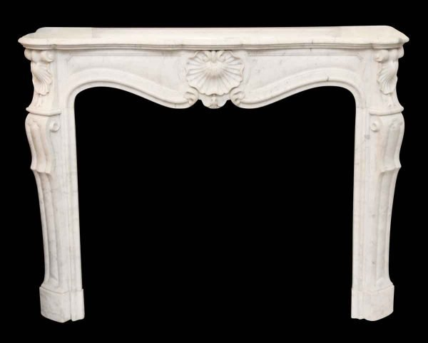 Carved Marble White Mantel - Mantels