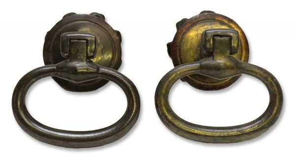 Pair of Cast Iron Castle Drawer Pulls - Cabinet & Furniture Pulls