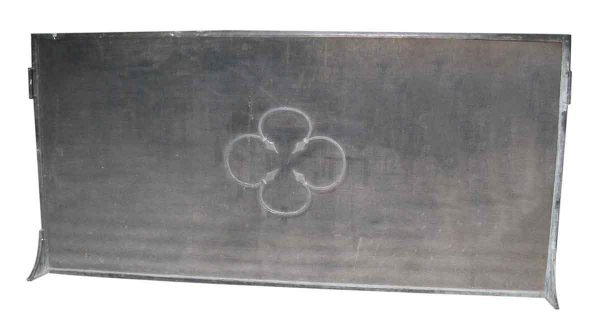 Wrought Iron Floral Fireplace Screen - Andirons