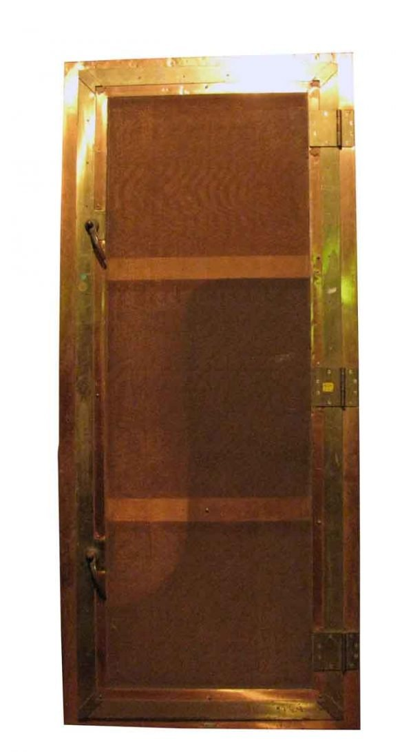 Brass Screen Door in Brass Frame - Specialty Doors
