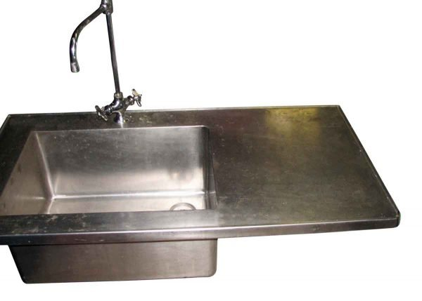 Stainless Steel Sink with Side Counter - Kitchen