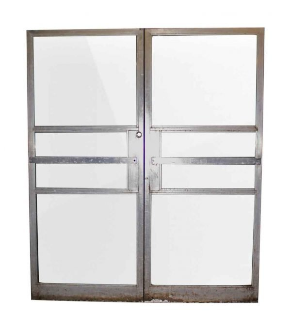 Double Commercial Glass Doors with Aluminum Frame - Commercial Doors