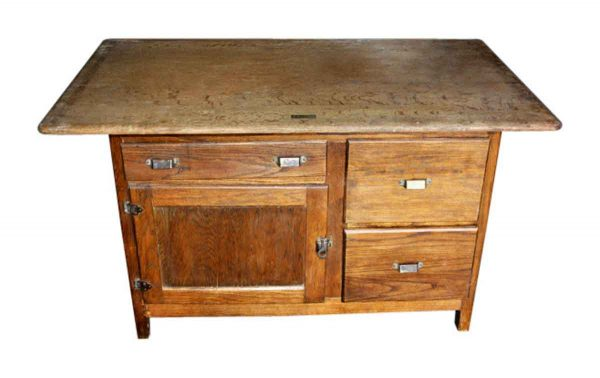 Antique Oak Icebox - Kitchen