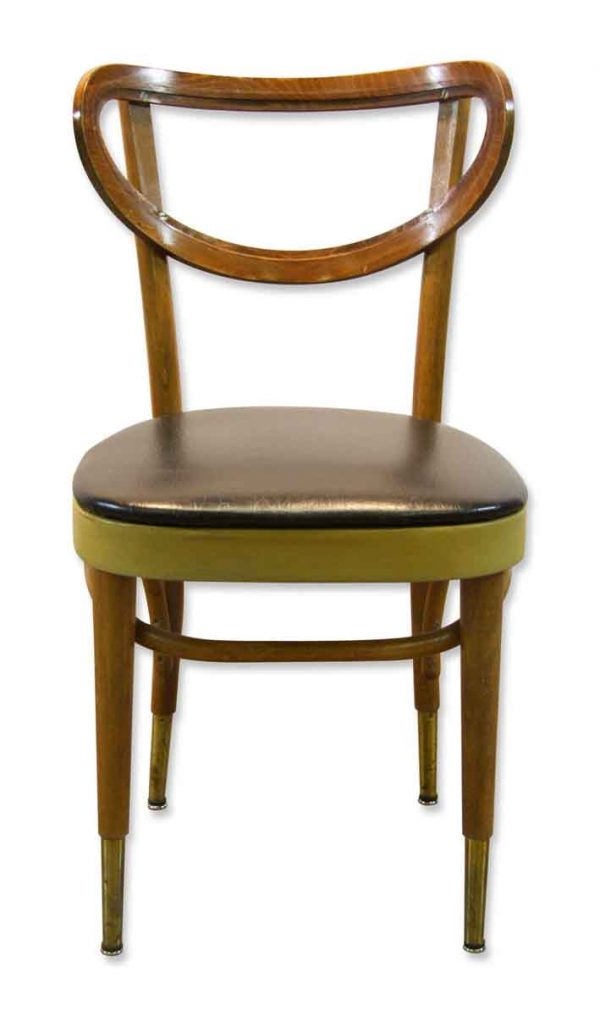 Bentwood Dining Chair with Blue Vinyl Seat - Flea Market