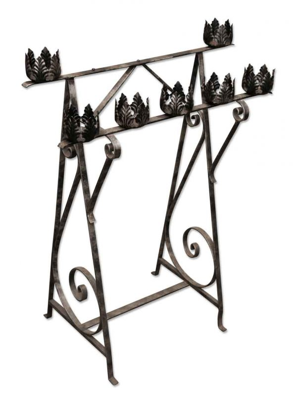 Wrought Iron Candle Holder - Religious Antiques