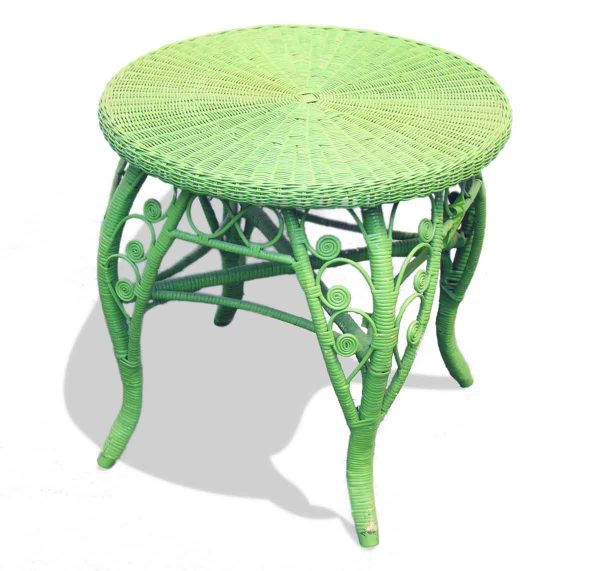 Lime Green Wicker Table - Patio Furniture