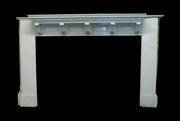 Salvaged White Wooden Mantel - Mantels