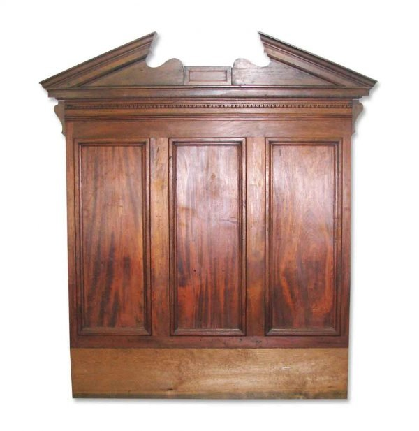 Architectural Walnut Piece with Pediment Makes Great Headboard - Bedroom