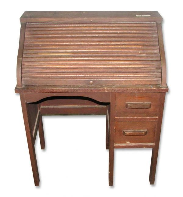 Small Vintage Roll Top Desk - Office Furniture