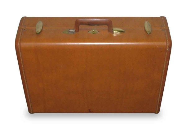 Vintage Samsonite Leather Suitcase - Suitcases