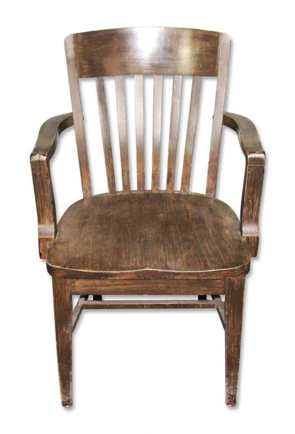 Wooden Bankers Chair with Arms - Seating