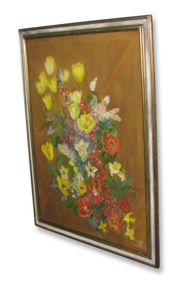 Framed Floral Painting - Paintings