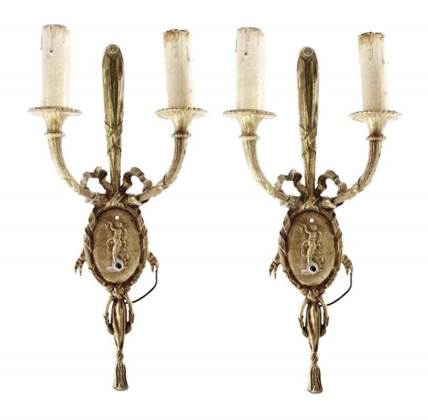 Tall French Figural Sconces - Sconces & Wall Lighting