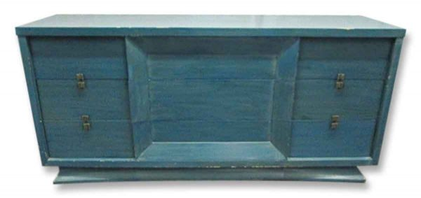 Mid Century Wooden Dresser with Blue Finish - Bedroom