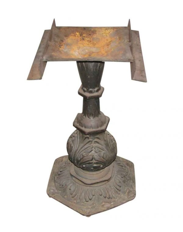 Ornate Cast Iron Pedestal Table Base - Industrial