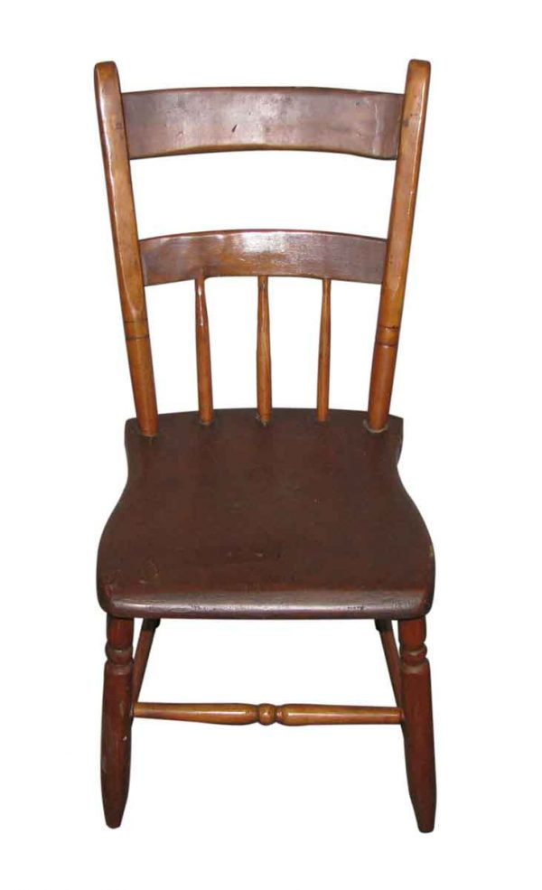 Antique Wooden Desk Chair - Seating