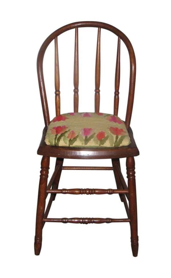 Antique Bentwood Chairs with Needlepoint Cushion - Kitchen & Dining