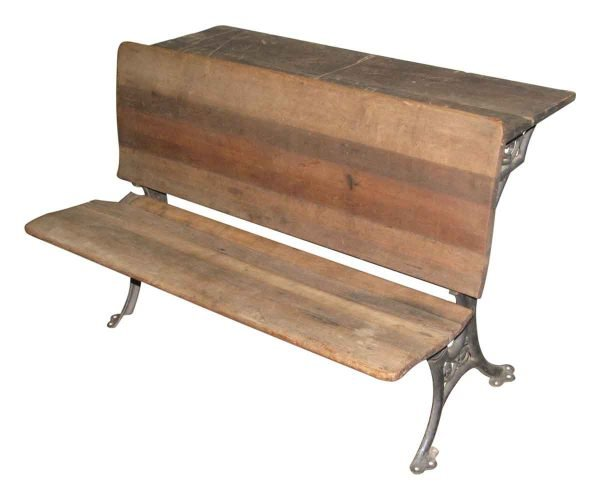19th Century Antique School Bench - Commercial Furniture