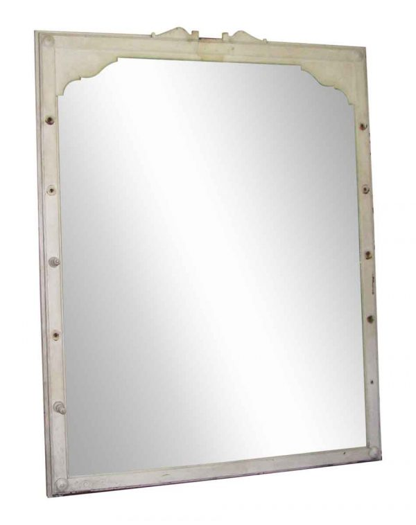 Large Antique Mirror with Wooden Queen Anne Frame - Antique Mirrors