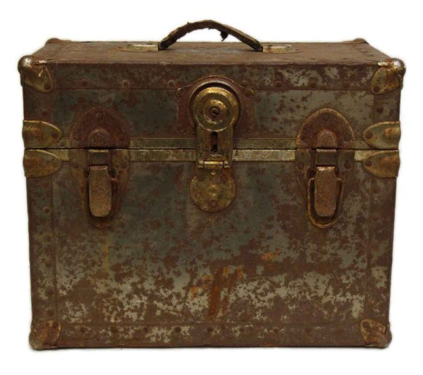 Worn Rusted Industrial Trunk - Trunks