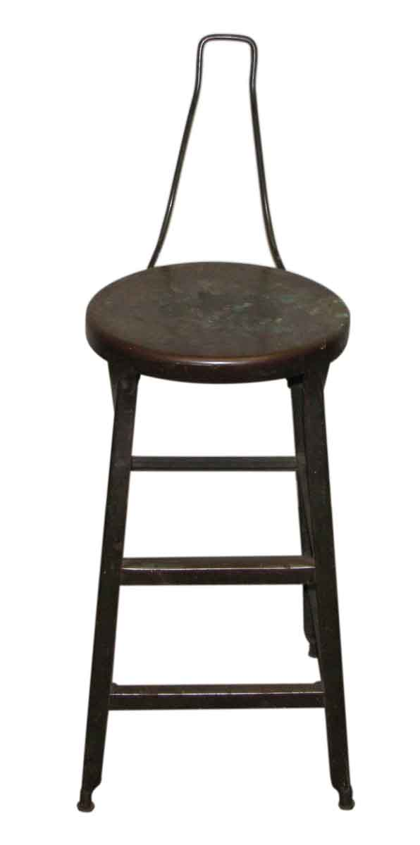 Black Backless Metal Stool - Flea Market