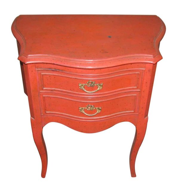 French Style Red Night Stand - Bedroom