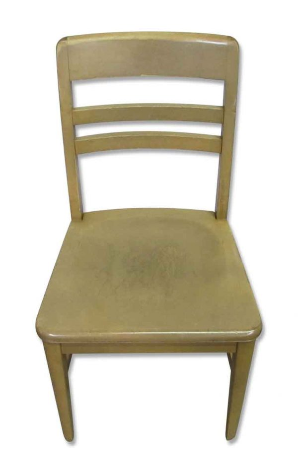 Old Wooden Blonde Chair - Seating