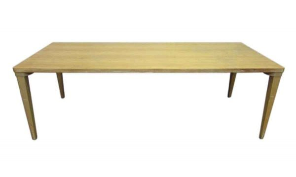 Mid Century Maple Wood School Table - Office Furniture
