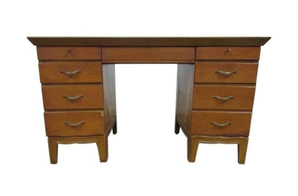 Pinecrest Wooden Leather Top Desk - Office Furniture