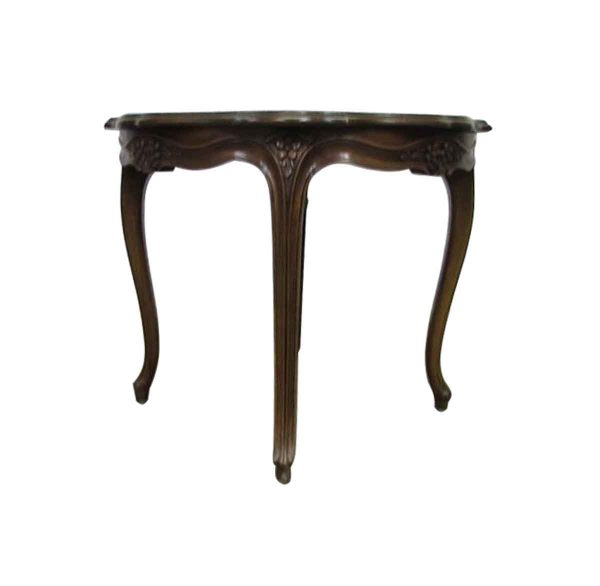 Carved Round Antique Table - Living Room