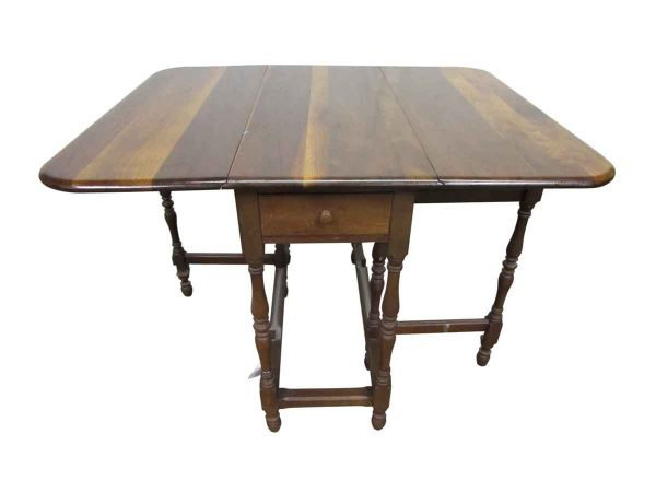 Pine Gate Leg Table with Drawer - Kitchen & Dining