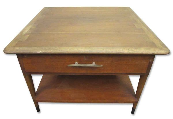 Mid Century Side Table with Dove Tail Top - Living Room