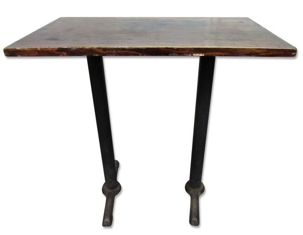 Wooden Top Bar Height Table with Iron Legs - Kitchen & Dining