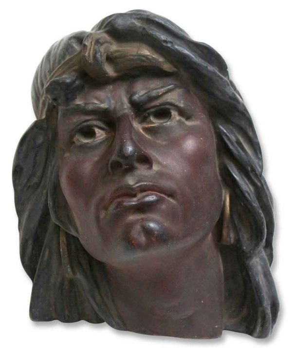 1904 Plaster Indian Head - Other Wall Art