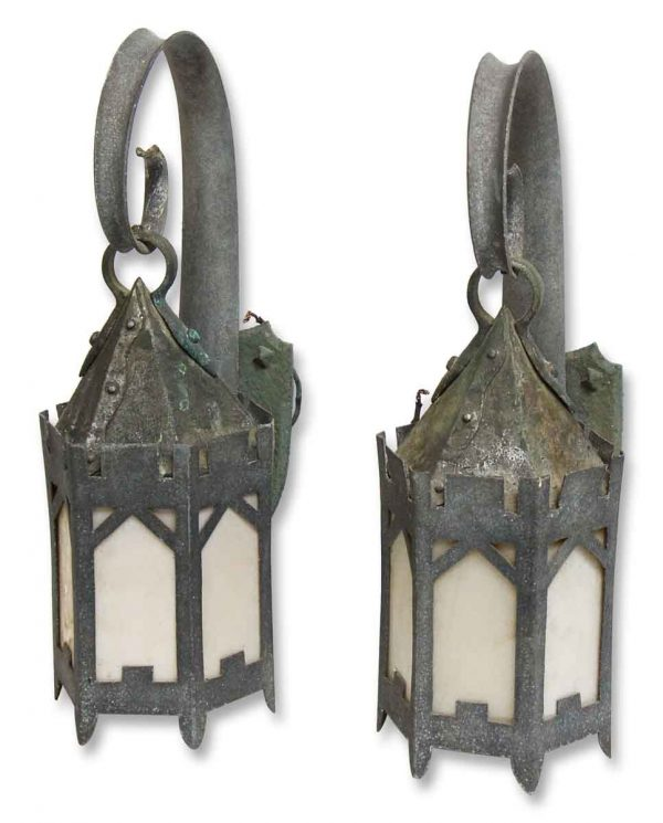 Turn of the Century Hand Hammered Exterior Sconces - Wall & Ceiling Lanterns