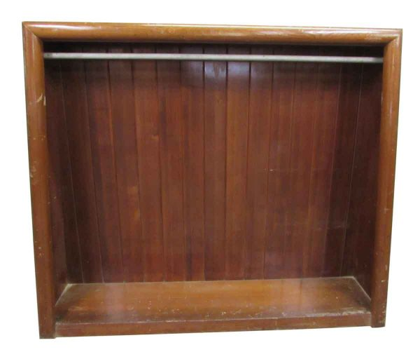 Free Standing Wood Closet Slated Back - Cabinets & Bookcases