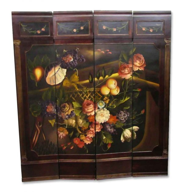 Four Panel Hand Painted Screen - Unique Pieces