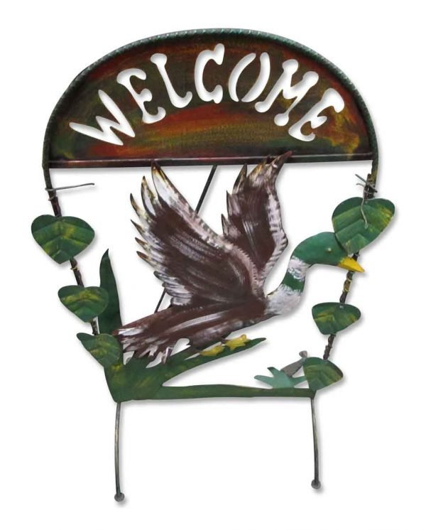 Metal Welcome Duck Decoration - Tin Creations