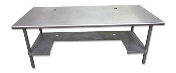 Stainless Steel Industrial Table with Shelf - Kitchen